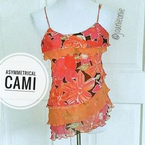 Flouncy Layered Cami Tangerine Dream Size S EUC